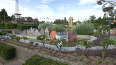 The Tanners' Guildhouses displayed at the Mini-Europe, Brussels Stock Footage