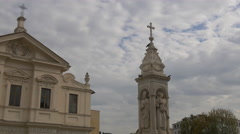 San Bartolomeo all'Isola and Colonna Infame,  Rome Stock Footage
