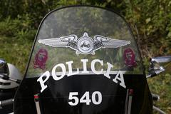 Cuba, Police Motocycle Stock Photos