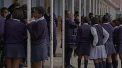 African school children at school Stock Footage