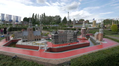 Veere and Alkmaar from The Netherlands at the Mini-Europe, Brussels Stock Footage