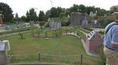 Scale models from Belgium displayed at the Mini-Europe, Brussels Stock Footage
