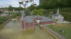 Hoensbroek Castle displayed at the Mini-Europe, Brussels Stock Footage