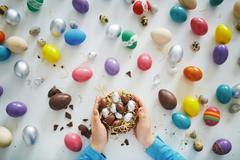 Easter sweets - stock photo