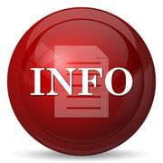 Info icon. Internet button on white background.. - stock illustration