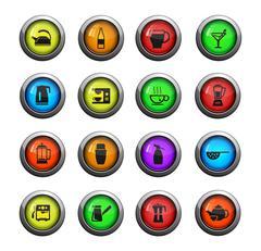 Utensils simply icons - stock illustration