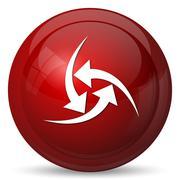 Change icon. Internet button on white background.. - stock illustration