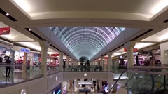 One side of shopping mall - stock footage