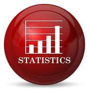 Stock Illustration of Statistics icon. Internet button on white background..