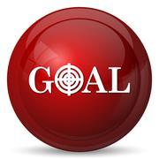 Stock Illustration of Goal icon. Internet button on white background..
