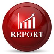 Report icon. Internet button on white background.. - stock illustration
