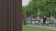 Berlin Wall Memorial Cityscape - stock footage