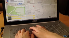 Stock Video Footage of Searching on Google map