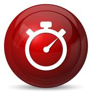 Timer icon. Internet button on white background.. - stock illustration