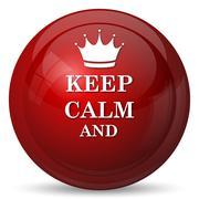 Stock Illustration of Keep calm icon. Internet button on white background..