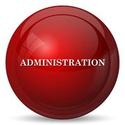Stock Illustration of Administration icon. Internet button on white background..