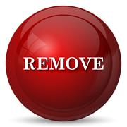 Remove icon. Internet button on white background.. - stock illustration