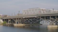 Berlin Modern Railway Bridge Stock Footage