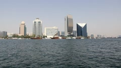 Etisalat and CreekTower, Sheraton Hotel, Emirates NBD, DCCI building Stock Footage