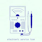Stock Illustration of Icon of electrical measuring instrument. Vector illustration