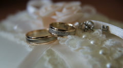 Two wedding rings Stock Footage