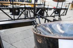 Wheeled Percussion platform - stock photo
