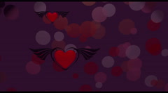 Dark red gothic hearts - stock footage