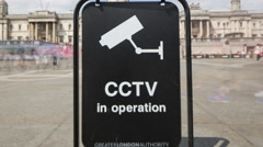 4k timelapse london city surveillance cctv cameras security urban Stock Footage