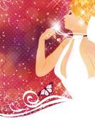 Beautiful bride Stock Illustration
