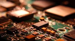 circuit board microchip resistors - stock footage