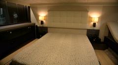 Main cabin on luxury yacht Stock Footage