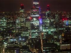Timelapse london city skyline skyscrapers architecture england urban 4k Stock Footage