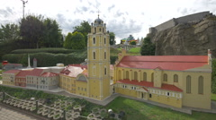 The University of Vilnius displayed at the Mini-Europe, Brussels Stock Footage