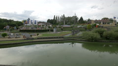 Cloudy day at the Mini-Europe, Brussels Stock Footage