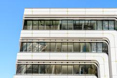Library and Learning Center by Zaha Hadid Of Vienna University of Economics - stock photo
