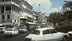 Martinique 1976: traffic in the street Stock Footage