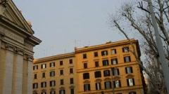 Santi Marcellino Pietro al Laterano, Rome, Italy Stock Footage