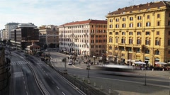 Via Luisa di Savoia in Roma, Italy. Stock Footage