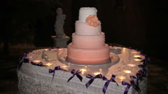 Beautiful Wedding Cake Stock Footage