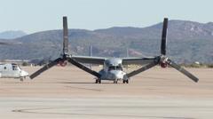 Osprey V-22 manuevering Stock Footage