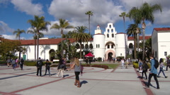 San Diego State University campus - stock footage
