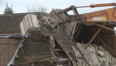 Demolition of building - 02 Stock Footage
