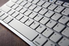 Computer keyboard keys close up Stock Photos