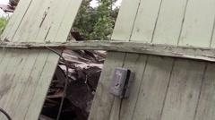 Waimanalo Home Destroyed by Makani Pahili Hurricane Stock Footage