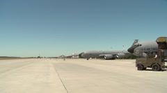 Boeing KC-135 Stratotanker flight operations Stock Footage