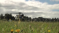 Air Assault Flight Familiarization in UH-60 Blackhawk helicopter Stock Footage