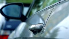 Slowmotion close of door of car  - stock footage