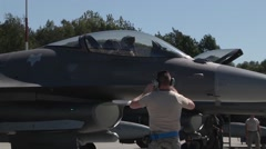 F-16 Fighting Falcon Flight Operations for Operation Atlantic Resolve Stock Footage