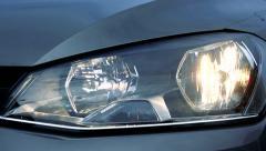 Slowmotion winks long-distance light  of car - stock footage