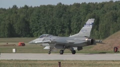 F-16 Fighting Falcon Flight Operations for Operation Atlantic Resolve - stock footage